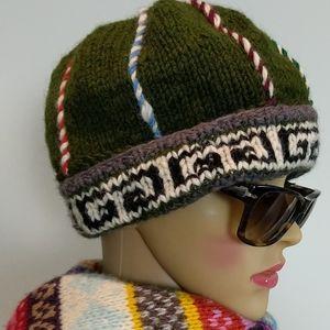 Nepal 100% wool winter Unisex hat